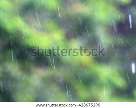 Blur of Falling rain back ground