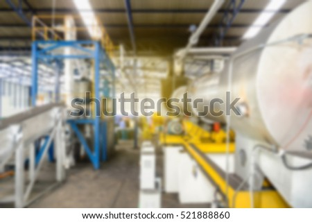 Blur of heavy equipment in heavy industrial, Blur of equipment in power plant, blur of background in turbine building, blur background in factory