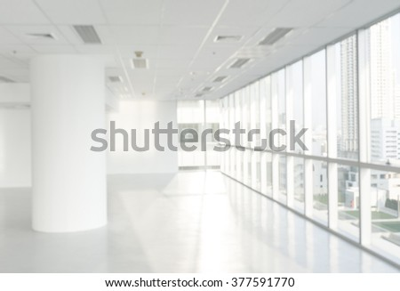 Blur of office window building floor in Bright.For create your background