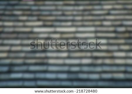 Blur of Old Wooden of Roof Texture - stock photo