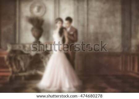 Blur of pre-wedding photo, soft beautiful pre-wedding photo