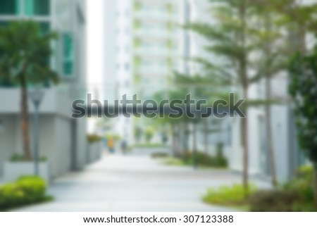 Blur office building with background. - stock photo