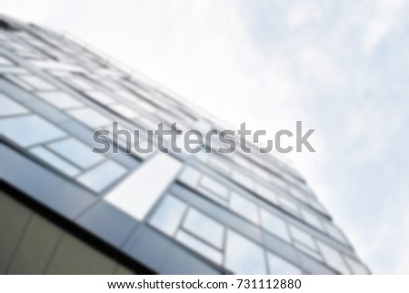 Blur office building with background.