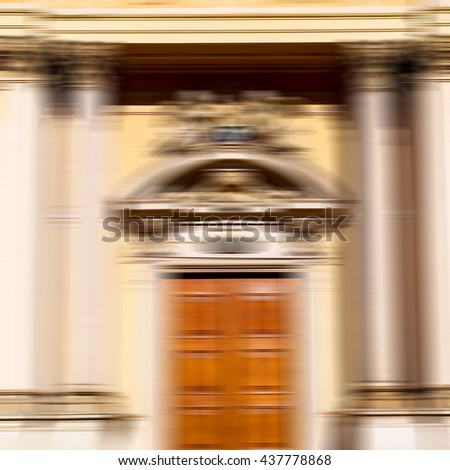 blur old door    in italy land europe architecture and wood the historical   gate - stock photo