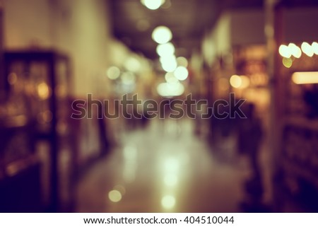Blur or Defocus image of  customer walk in market or shopping mall for use as Background - stock photo