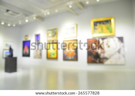 Blur or Defocus image of the lobby of a modern art center as background with bokeh