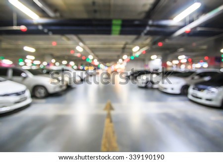 Blur parking lot