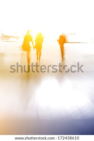 blur people - stock photo