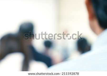 blur people at conference room - stock photo