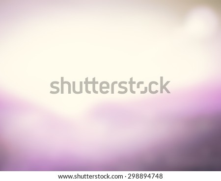 Blur Purple Garden White Terrace View Sun Sea Surf Rest Fresh Nature Resort Ray Glow Bokeh Flare Travel Zen Pink Violet Magenta Shine Soft Cloud Bright Wave Relax Blurry Sunny Horizon Vintage concept. - stock photo