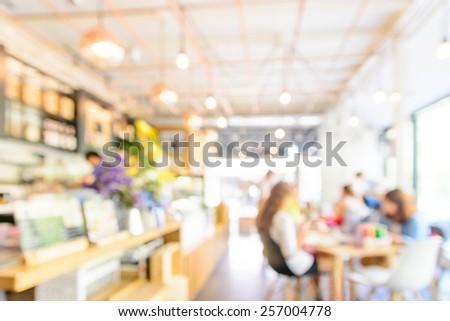 Blur restaurant background - stock photo