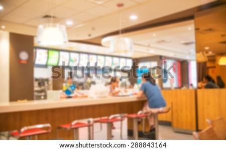 Blur Restaurant   Vintage Effect Style Picture