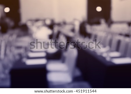 Blur  row of seat  in  hall or classroom or auditorium for background