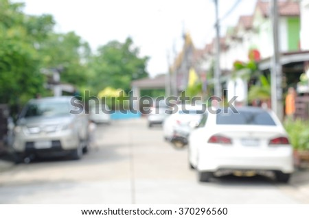 Blur rows of townhomes - stock photo