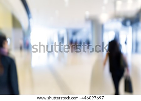 blur shopping mall background