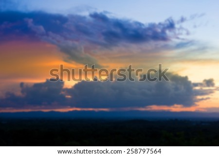 Blur sky texture and clouds background - stock photo