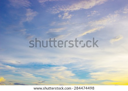 Blur Sunset sky - stock photo
