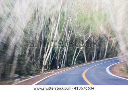 blur The route of the road - stock photo