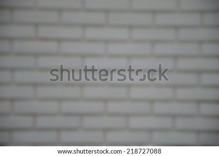 Blur White Brick Background - stock photo