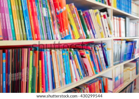 Blured book shelf in Library