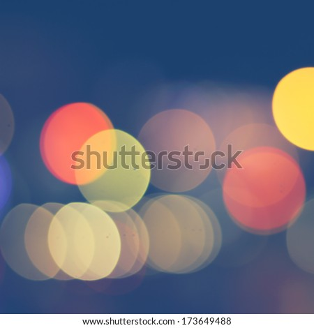 Blured city lights - stock photo