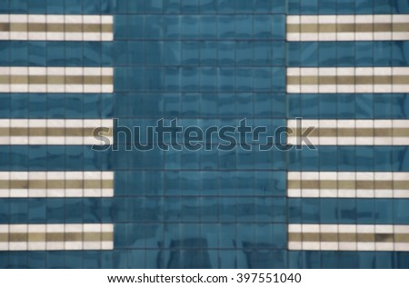 Blured image, Reflection in glass windows of an office building - stock photo