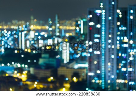 Blured lighhts , Hong Kong  - stock photo