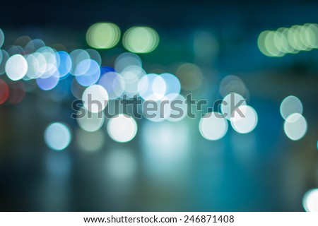 Blured lights abstract background - stock photo