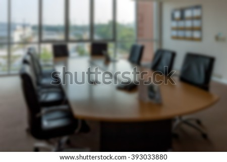 Blured meeting room ,conference room without anybody