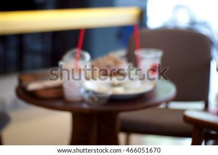 Blurred abstract background and can be illustration to article of In cafes