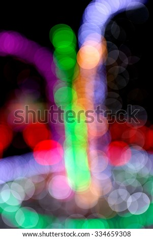 Blurred abstract background lights - stock photo