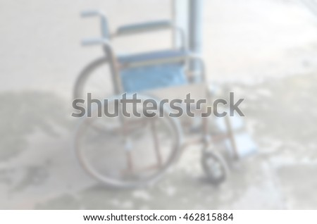 Blurred abstract background of Chair disabled