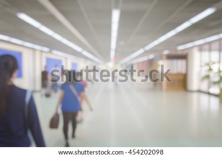 Blurred abstract background of people on the airport,Business People Walking Commuter Travel Motion City.