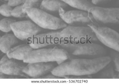 Blurred abstract background of Sweet potato
