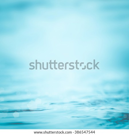 Blurred abstract background wavy clean fresh water in cool cyan turquoise blue green vintage color tone: Blurry peaceful aqua soft pattern conceptual textured backdrop: Save environment concept - stock photo