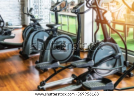 Stationary Bikes Treadmills Equipment Health Exercise Stock Photo