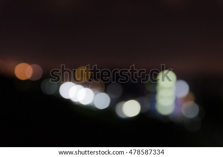 blurred and bokeh lights from peak town