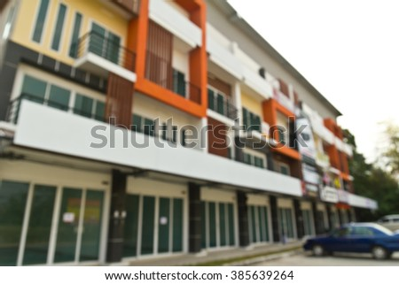 Blurred apartment building  - stock photo