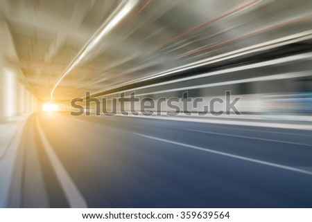 Blurred asphalt road - stock photo