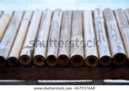 Blurred  background abstract and can be illustration to article of bamboo