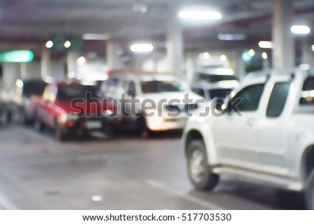 Blurred  background abstract and can be illustration to article of Parking garage