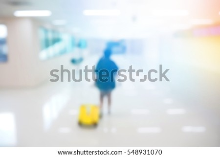 Blurred  background abstract and can be illustration to article of people in international airport