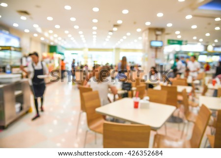 blurred background - blur restaurant food court