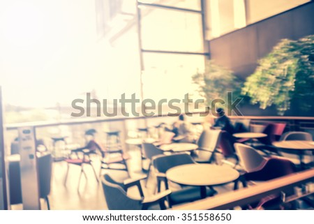 blurred background - cafe restaurant and customers - stock photo