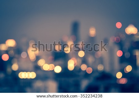 blurred background - city lights - stock photo