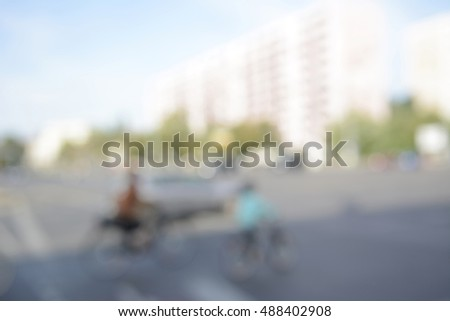 blurred background, city live