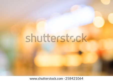 Blurred background : Colorful store blur background with bokeh - stock photo