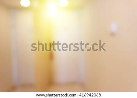 Blurred background door of hotel. - stock photo