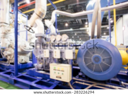 Blurred Background - Heavy Industrial Facilities Machine
