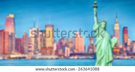 Blurred Background image from New York City
